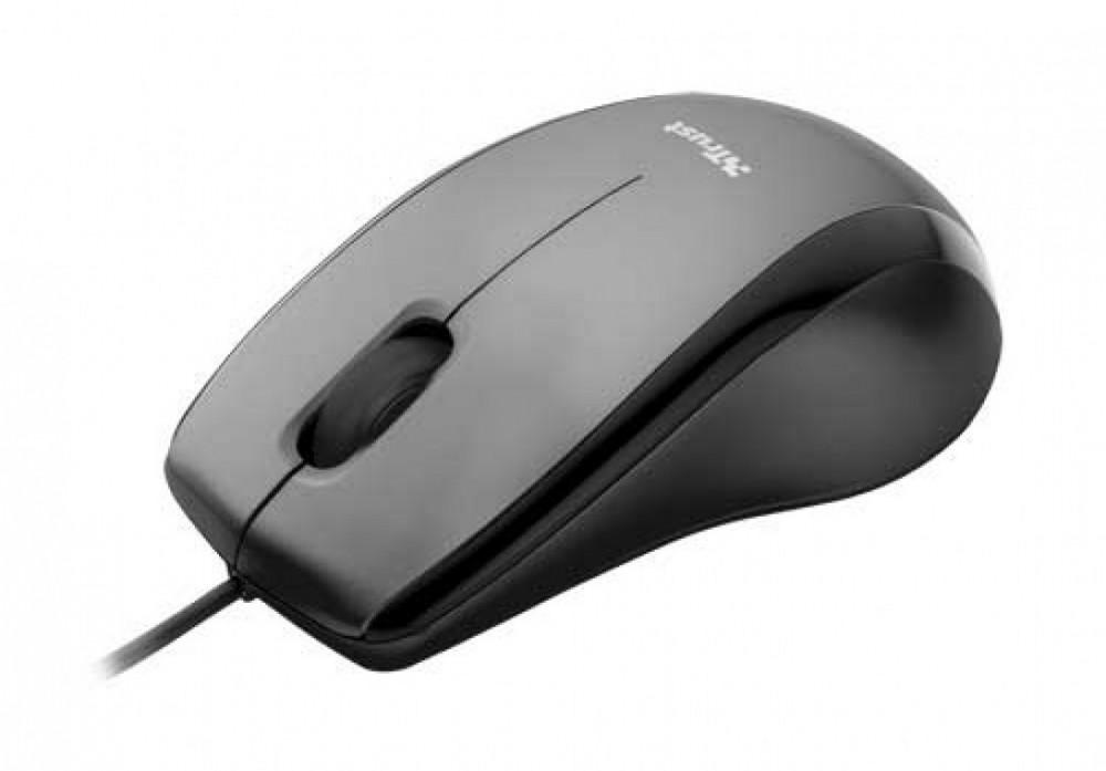 Trust Carve USB Optical Mouse - Black Optisk 3 kna