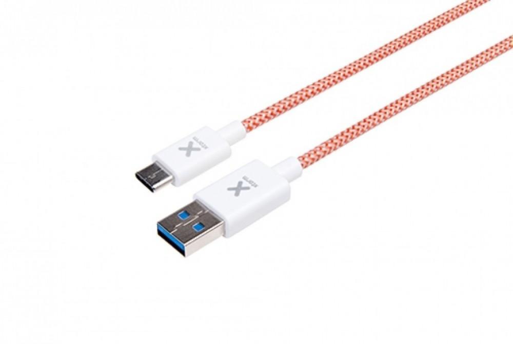 Xtorm Högkvalitets vävd USB - USB C kabel, 1m