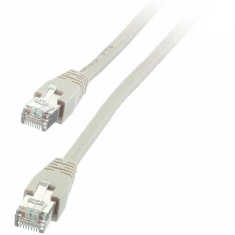 Vivanco CAT5 nätverkskabel på 10 meter Grå