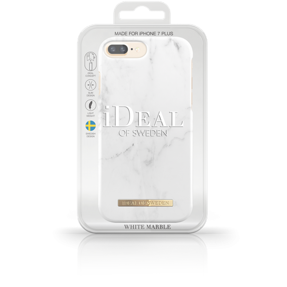 Stilfullt mobilskal till iPhone 7 8 Plus. iDeal of Sweden Case White Marble  ... cef53f000d401