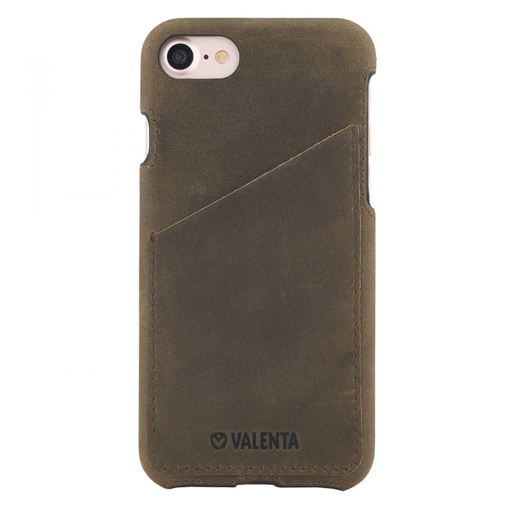 Valenta Back Cover Classic Luxe Vintage Brown iPhone 8/7