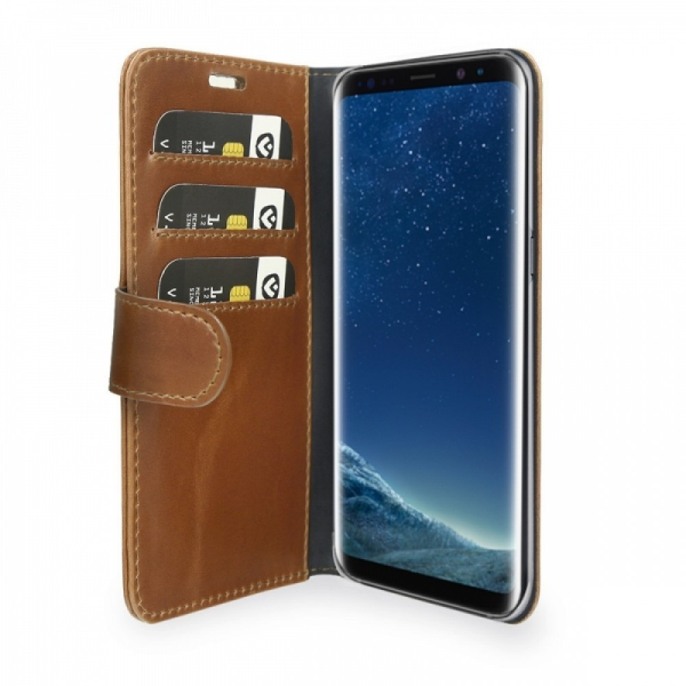 Valenta Booklet Classic Luxe Brown Galaxy S8