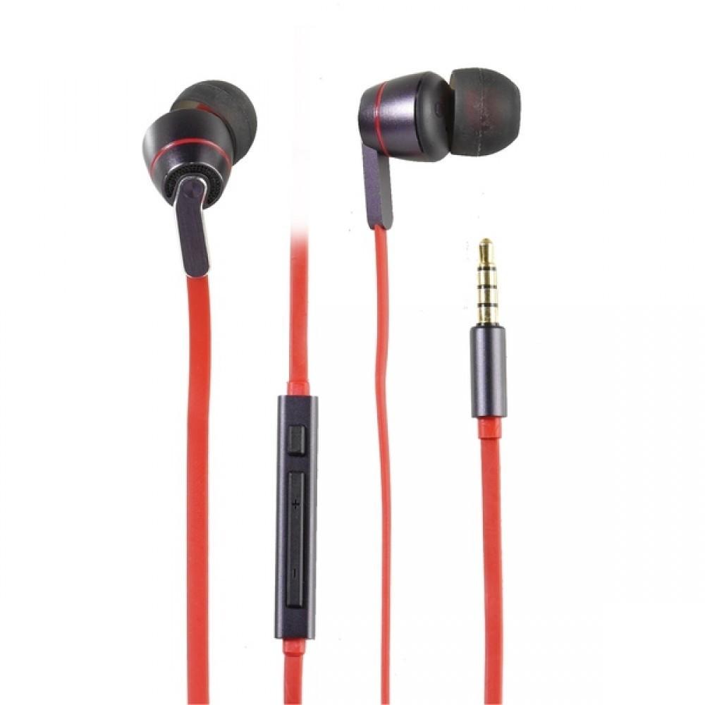 Vivanco Kvalitets In-Ear Plugin Headset Röd