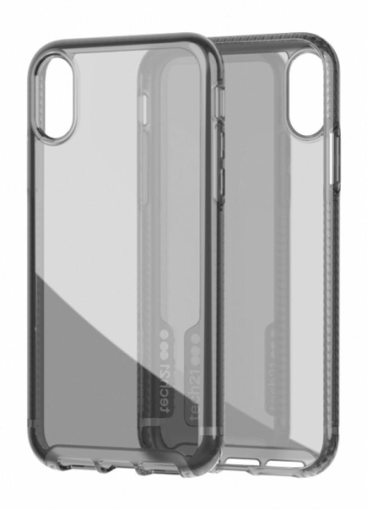 Tech21 Pure Carbon för iPhone Xs Smoke