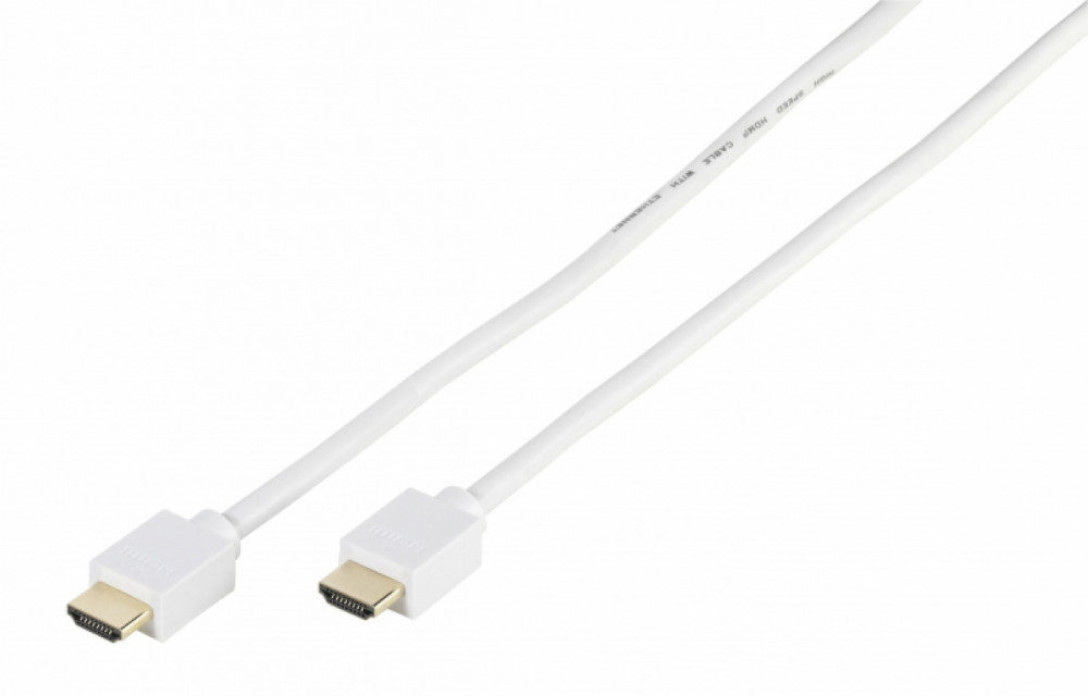 Vivanco HDMI High Speed kabel Ethernet, 1m Vit