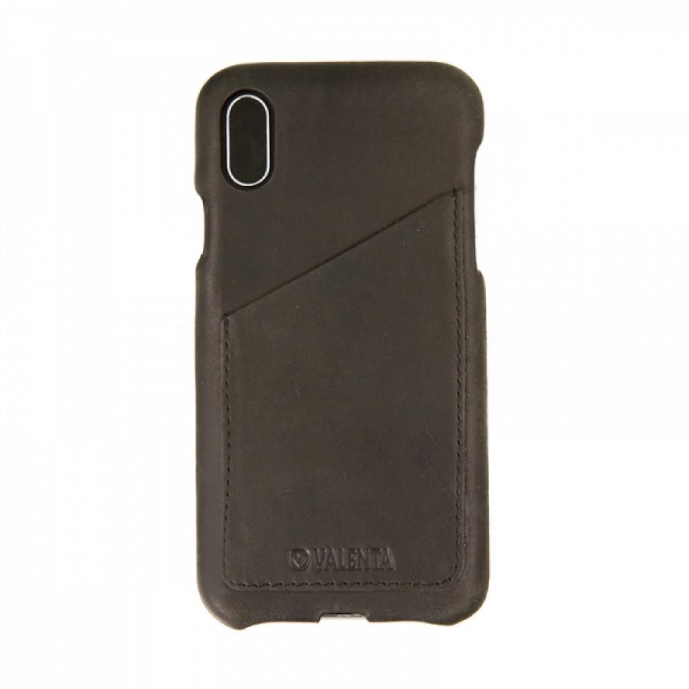 Valenta Valenta Back Cover Classic Luxe Vintage Black iPhone X/Xs