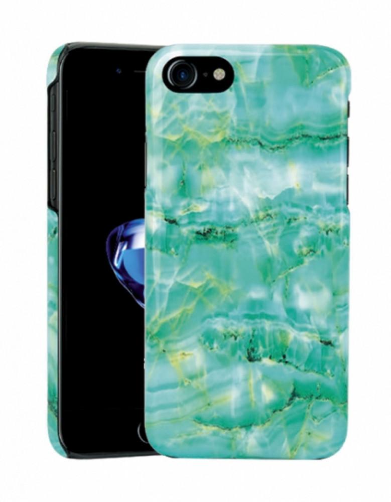 Vivanco Designskal till iPhone 8/7/6 Marble Green