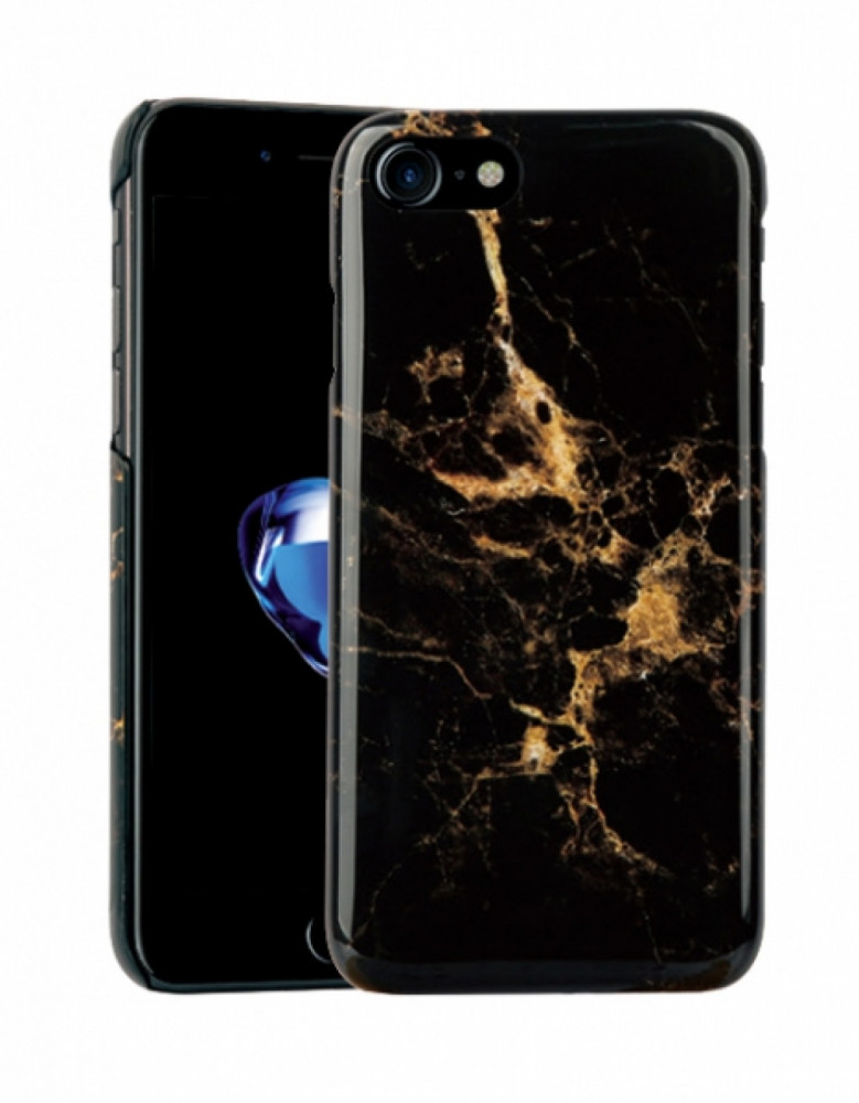 Vivanco Designskal till iPhone 8/7/6 Black Gold