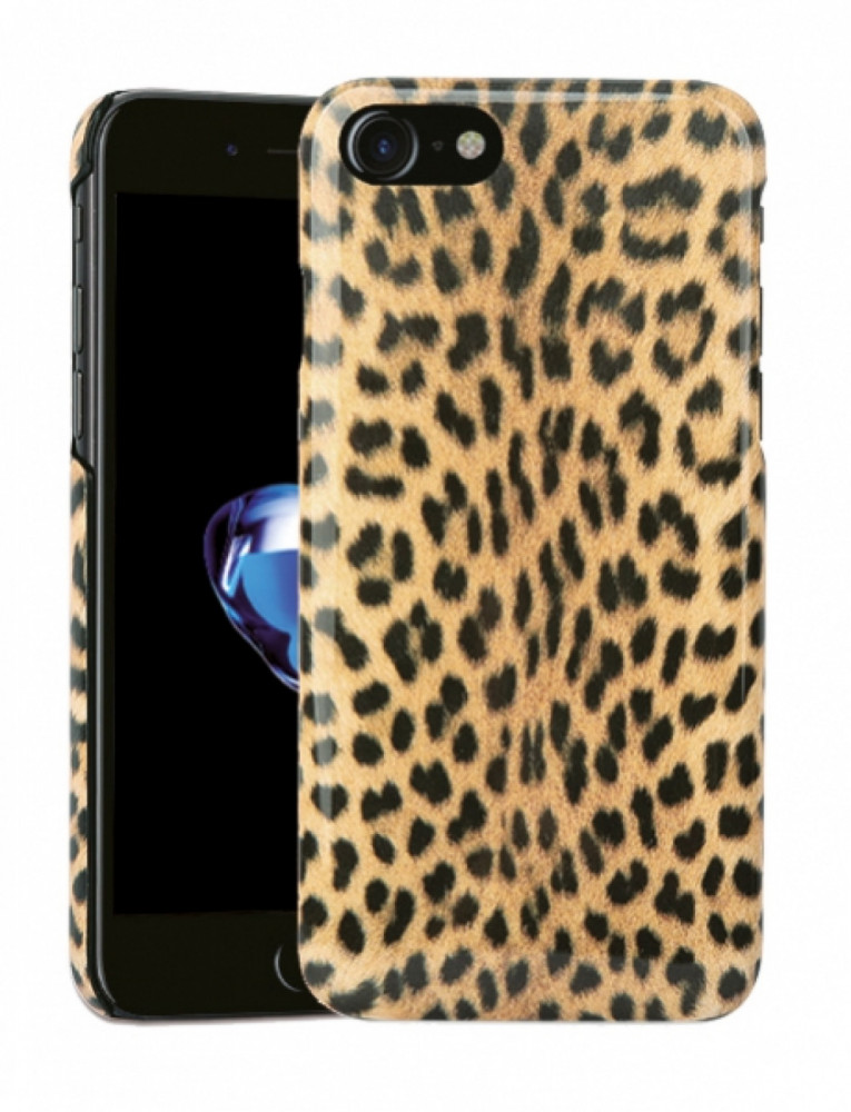 Vivanco Designskal till iPhone 8/7/6 Furry Leopard