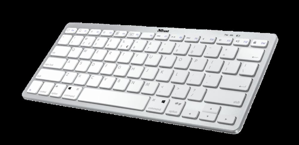 Trust Nado Trådlöst Bluetooth tangentbord Vit