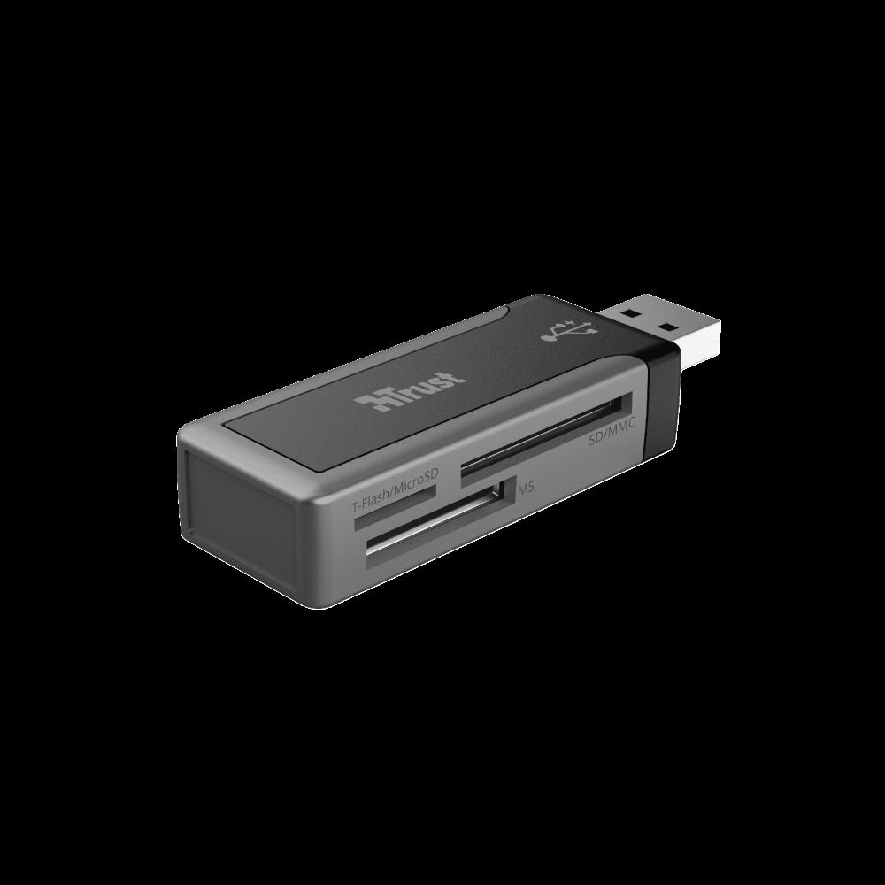 Trust Snabb mini USB 2.0-minneskortsläsare