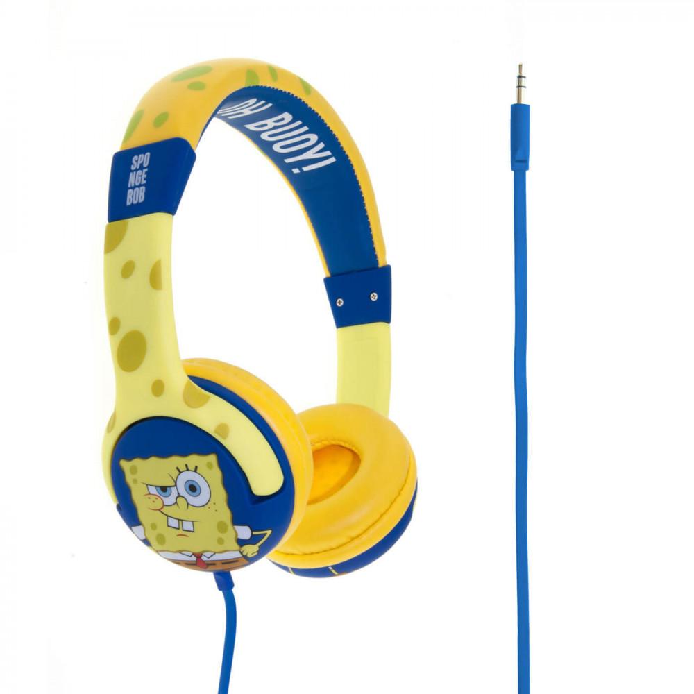 . SvampBob fyrkant Junior Hörlur On-Ear Gul