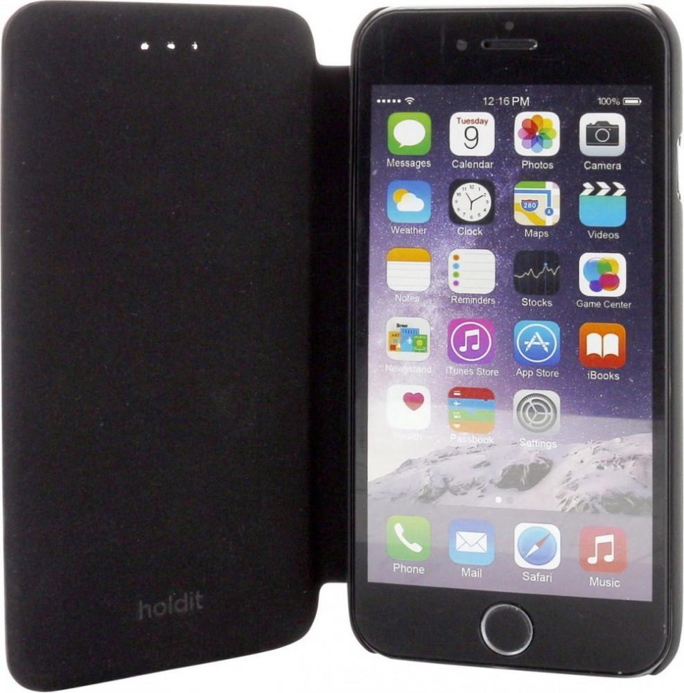 Holdit Slim Flip Case För iPhone 6/6s Svart