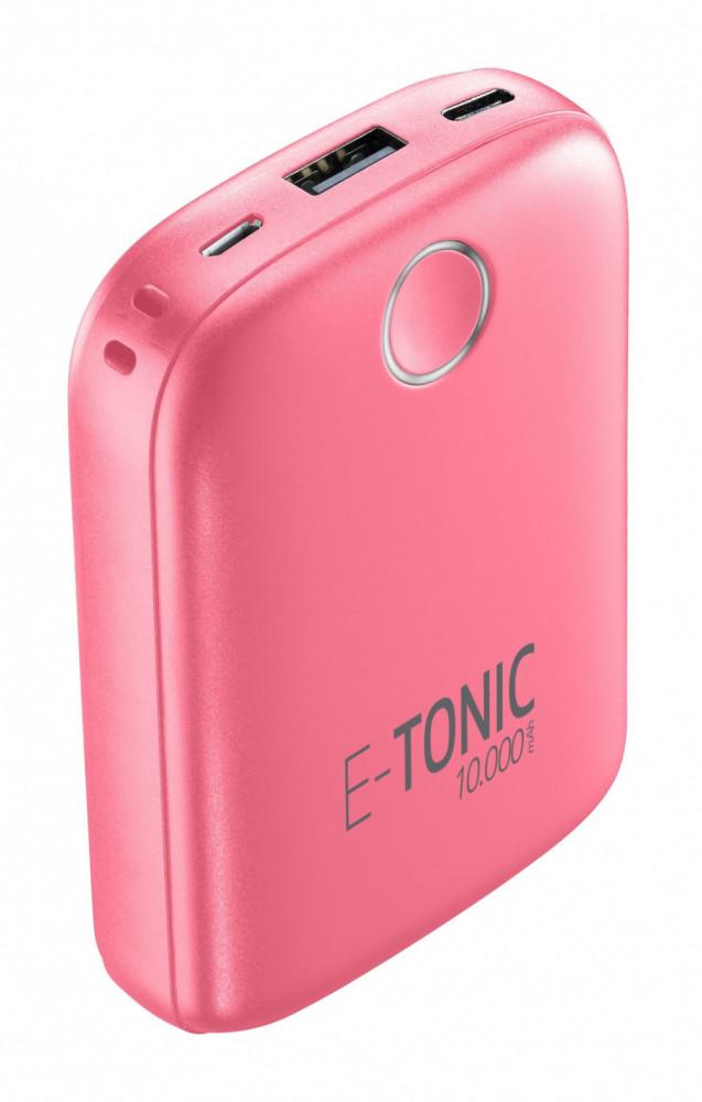Cellularline E-Tonic USB-C Power Bank på 10.000mAh Rosa