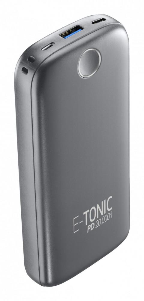 E-Tonic USB-C PD 18W Power Bank 20.000mAh Svart