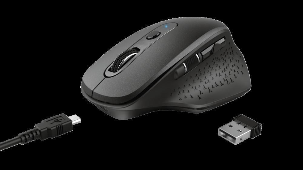 Trust Ozaa Rechargeable Wireless Mouse - Svart