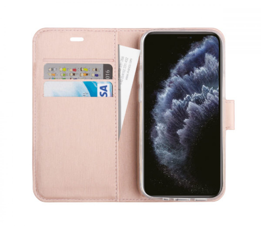 Vivanco Plånboksfodral iPhone 12 / 12 Pro Rosa Guld
